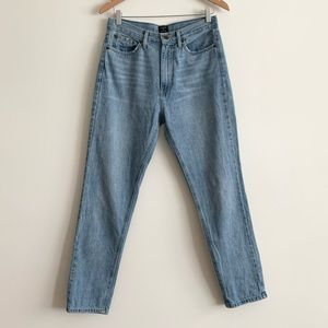 Just Black High Waisted Mom Jeans in Light Wash